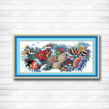 Tropical fish Pattern print canvas DMC 11CT 14CT Cross Stitch kit needlework Set embroidery animal style hand made crafts DIY - ONSunday Store store