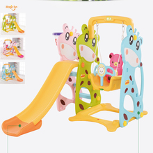 magic fun Home Indoor Combined Play Toy for Children Kindergarten Lengthen Small Slider and Swing Kids Toy swings combination(China)