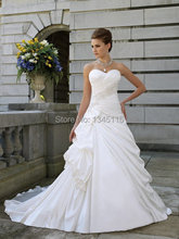 2016 Hot Sale Elegant Sweetheart Wedding Dress A-line Bridal Gown 2 4 6 8 10 12 14 16 16w 18w 20w 22w 24w 26w 28w Custom made
