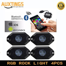 Bluetooth Pod 9W Mini RGB LED Rock Light Led Under vehicle Light For Jeep offroad Cars Truck ATV SUV(China)