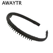 AWAYTR Hairbands 2017 New Fashion Multicolor Headband with Teeth Practical Cloth Hair Band for Women Girls Hair Accessories