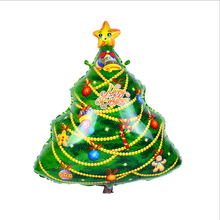 1pcs/lot New Arrival 18inch Christmas Tree Balloon Helium Inflatable Foil Balloon Christmas Party Decoration