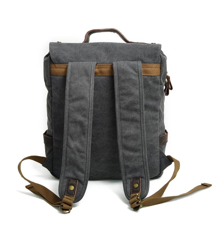 Brand Men's Backpacks Vintage Canvas Schoolbag Student bag Large Capacity Laptop Backpack Casual Travel Rucksack male Bagpack