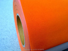 CDF-07 orange color flock heat transfer flock vinyl for garment or basketball shirt flock with size:50*100cm/lot(China)