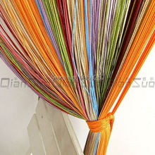 decorative 100*200cm colorful string curtain line curtain  home decoration curtains for door  window vanlance free shipping