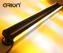 "New 41"" Double Side 252W 84 LED Hazard Car Truck Work Flash Emergency Light Bar Beacon Lamp Strobe Warning LightBar White&Amber"