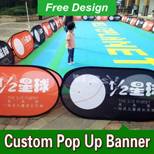 Free Design Free Shipping Vertical Top Banner Frame Pop Up Advertising Signs Pop Up Banner Printing(China)
