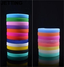 JETTING 1PC Unisex Trendy Silicone Rubber Flexible Wristband Wrist Band Cuff Bracelet Bangle For Women Men(China)