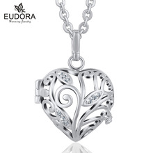 Harmony Bola Pregnancy Family Giving Tree 18mm crystal Locket Cage Pendant Necklace Fit Angel Caller Bola Pregnant Women Jewelry(China)