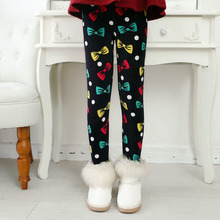 2017 Winter Girls Leggings New Arrive Kids Print Clothing Warm Pants Children's Cotton Casual Trousers Thick - K-Lucy Online Retail & Shop store