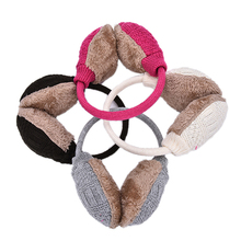 Winter Earmuffs For Women Warm Unisex Ear Muffs Winter Ear Cover Knitted Plush Winter Ear Warmers