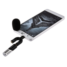 R1 Rotatable Mini Condenser Microphone Interviewing Recording 3.5mm Audio Mic Microphone for iphone ipad Android Phone