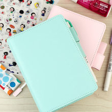 2017 Jamie Original School Notebook PU Leather Hobo Style Agenda Planner Cover Personal Diary Organizer Without Filler Page A5A6