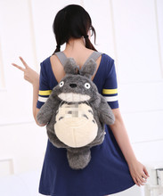Backpack ;Quality BIG Kawaii 50*40CM Fluffy MY Neighbor TOTORO Plush Lady Girl's TOTORO Backpack  BAG Shoulder Pack