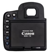 Camera LCD Hood Screen Protector and Sun Shade Shield Cover Shade for Canon Camera EOS 7D Split type