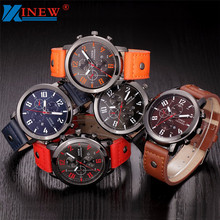 Best Quality Leather Military Watches Men Luxury Brand Quartz Watch Sports Watches Men Wristwatches Relogio Masculino Relojes