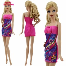 "Fashion Dress Dinner Party Dating Lady Wear Mini Short Gown Dollhouse Accessories For Barbie Doll Clothes FR Kurhn 11.5"" 12"""
