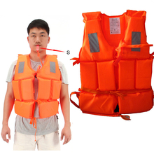 Orange Reflective Warning Useful Life Jacket Prevention Flood Adult Foam Swimming Drifting Vest Suit With Survival Whistle