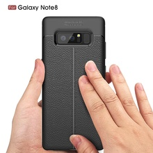 BROTOLA Ultimate Experience Luxury Soft TPU Lychee Texture Phone Case For Samsung Galaxy Note 8 N950 Case Cover Capa Fundas(China)