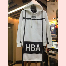 2016 brand Men's Fashion Fleece Hoodies top design men Hip Hop Sweatshirts HBA Hoodie Man Winter Hooded Long Zipper Jacket