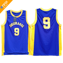 Cheap Drake Jimmy Brooks Degrassi Community School Basketball Jersey 9# Throwback Stitched Embroidery Retro High Quality Shirts(China)
