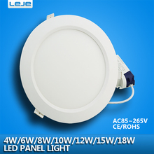 Ultra thin led downlight lamp 4w 6w 8w10w 12w 15w 18w led ceiling recessed grid downlight slim round panel light(China)