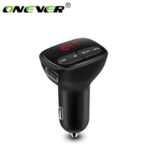 Onever Bluetooth Car Kit FM Transmitter Radio Modulator Handsfree Calling with 2.1A USB Car Charger Support U Disk Drive 12-24V(China)