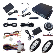 Smart PKE Car Alarm System Passive Keyless Entry With Shock Sensor Remote Engine Start Push Button Start Password Entry