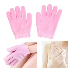 2Pcs Pink SPA Hand Spa Moisturising Gel Whiten Skin Gloves Mask Dry Hard Skin Care 19.5 x 9cm