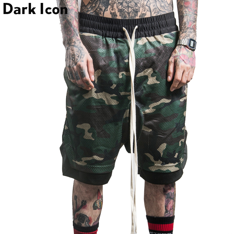 Popular Men's Elastic Waist Shorts Camo-Buy Cheap Men's ...