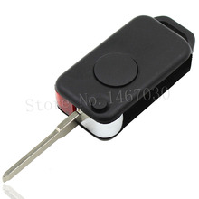 1 Buttons Remote KEY Case Shell Replacement Uncut Key Blade Mercedes Benz