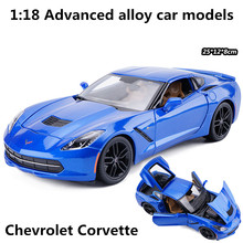 1:18 Advanced alloy car models,high simulation Chevrolet Corvette C7 model,metal diecasts,children's toy vehicles,free shipping