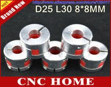 5pcs 8mm x 8mm CNC Flexible Jaw Spider Plum Coupling Shaft Coupler D 25mm L 30mm(China)