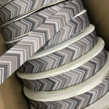 "Crazy Discount 1"" 25mm Grey Arrow Marks Printed Grosgrain Ribbon Creative Products DIY Home Decoration Materials 100 Yards(China)"