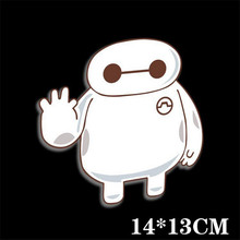 Car Sticker Baymax Hello Big Hero 6 JDM Window Reflective Vinyl Tuning Car Styling Accessories Car Decal Warm Heart Stickers