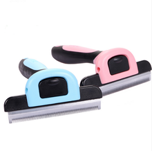 2017 Dog Brush Pet Grooming Tool Hair Removal Comb for Dogs Cats Brush Detachable Hair Shedding Trimming Wholesale
