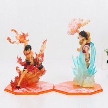 15-18cm One Piece action figure toy Fighting Ver. Fire Monkey D Luffy vs Portgas D Ace PVC Figure model Toys(China)