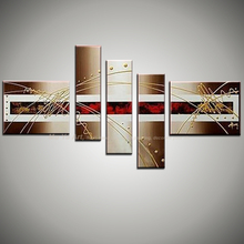 5 panel canvas art modern handmade paintings pictures of abstract oil paintings wall pictures for living room moderns unframed