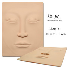 3D Silicone Face Tattoo Practice Skin High Quality Tattoo Design Fake Skins For Beginners Permanent Makeup Practice