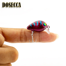 Professional hot fishing tackle Retail 2017 good fishing lures 25mm,1.7g mini crank.dive 0.8m-1.2m,BKK hook pike fishing(China)