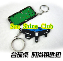 Free shipping 2pcs/lot billiards pool table keyring/snooker tables keychain/Billiards Accessories