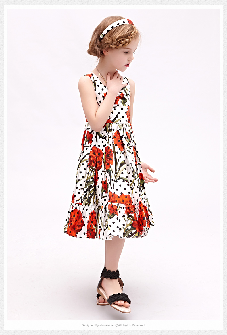 FANAIDENG 3-12yrs Hot  Baby Girls Flower  Dress High quality Party Princess Dress Children kids clothes 1<br>