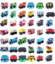 Thomas and His Friends -12PCS/LOT New Anime Megnetic Wooden Railway Trains Toy Model Great Kids Toys for Children Christmas Gift(China)