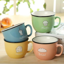 2017 New Creative Candy Color Ceramic Mug Cup Coffee Milk Breakfast Cup Cute Porcelain Mug Cartoon Tea Mugs 250ml Novetly Gifts