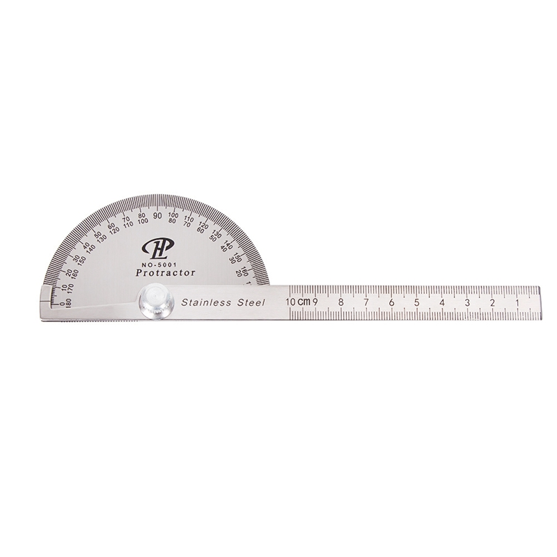 Protractor Measuring Tool 360 Degree Angle Ruler Gauges Plastic