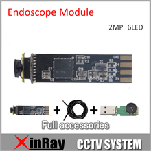 Newest 2.0MP HD  Mini 7.8mm USB Endoscope Module for DIY1600*1200 Inspection Camera 6 LED full Accessories as Gift XR-IC2MHD