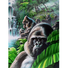 5D printing style animal gorilla diamond embroidered painting the living room European-style fantasy painting BK-4013(China)