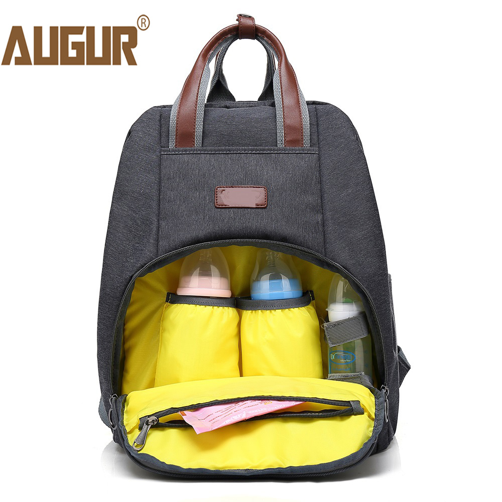 AUGUR New Fashion Mummy Bags Maternity Nappy Bag Large Capacity Baby Travel Diaper Backpack Designer Nursing Bag for Baby Care<br>