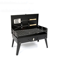 Outdoor Folding Barbecue Grill Portable Camping picnic Patio Garden Stainless Steel charcoal furnace BBQ grills stove tools
