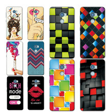 "Soft TPU Silicon Funda For HTC One X10 Phone Cases For HTC E66 One X10 5.5"" Rainbow Grid Printed Back Cover For HTC X 10 Case"
